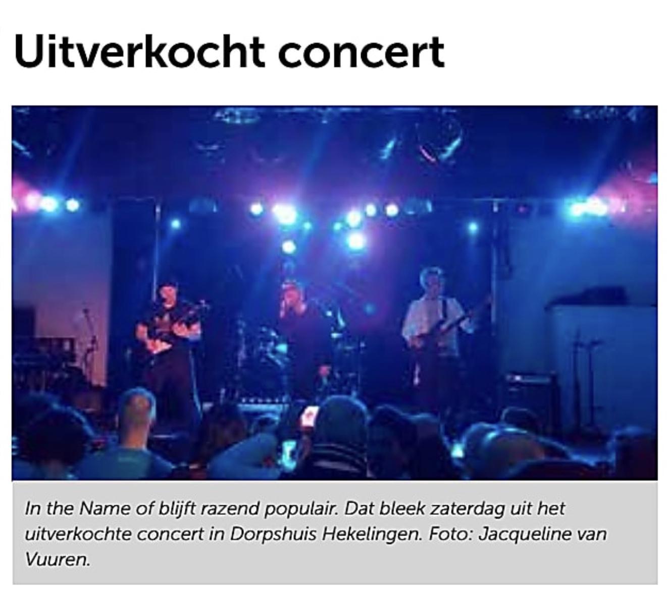Uitverkocht concert