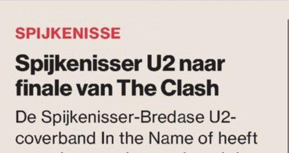 Spijkenisser U2 naar finale van de Clash