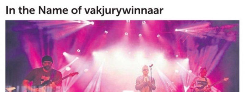 In the Name of vakjurywinnaar